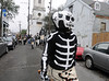 Members of the Northside Skull & Bones gang, Mardi Gras in New Orleans, LA , Feb. 9-12, 2013. By David Bundy