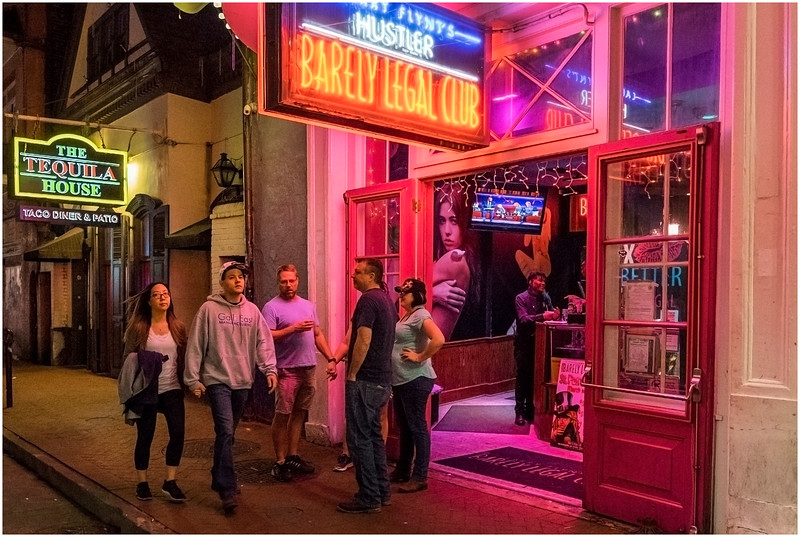 Louisiana New Orleans French Quarter Street Life Night 26 March 2018