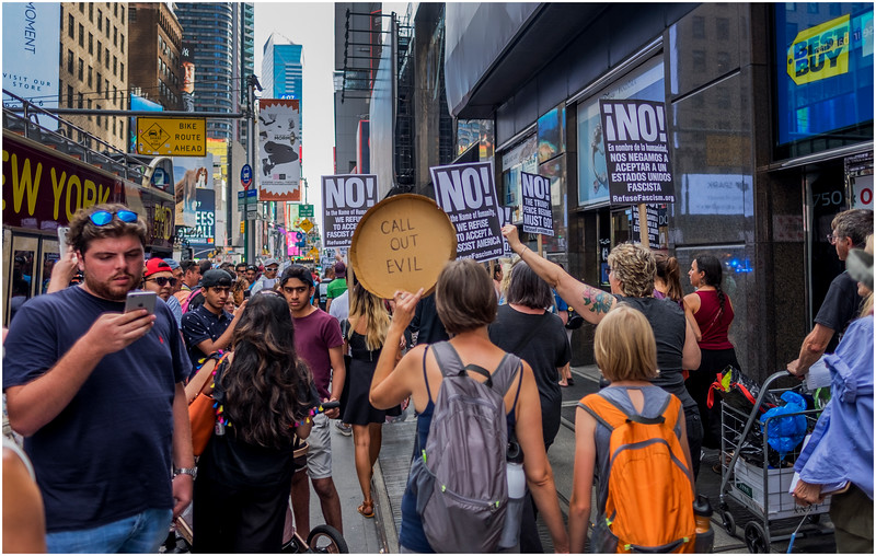 New York City Anti-Trump March 1 August 2017