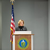 Secretary of National Nuclear Security Administration Lisa E Gordon-Hagerty extends congratulations for the completion of W76-1 Life Extension Program. This a nuclear weapon launched from naval submarines. Held at Pantex Plant in Amarillo, TX on January 23, 2019. [Shaie Williams for Amarillo Globe News]