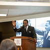 """The crowd records and listens to The Reenactment of the March on Washington, """"I Have a Dream"""" speech from Dr. Martin Luther King Jr. Perfrormed by Amarillo's Julian Reese at the JBK Student Center on WTAMU campus in Canyon, TX. January 22, 2018. [Shaie Williams for Amarillo Globe News]"""