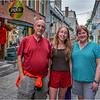 Canada Quebec PQ Jenna, Kim and I, Rue Petit Champlain June 2018