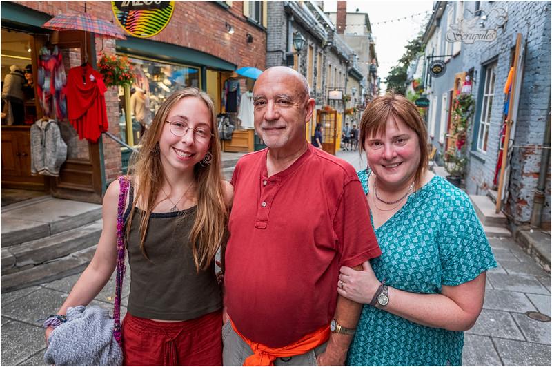 Canada Quebec PQ Jenna, Kim and I 2 Rue Petit Champlain June 2018