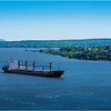 Canada Quebec PQ 71 Upper Town View of Fleuve Laurent, Pointe Levis and Isle D'Orleans June 2018
