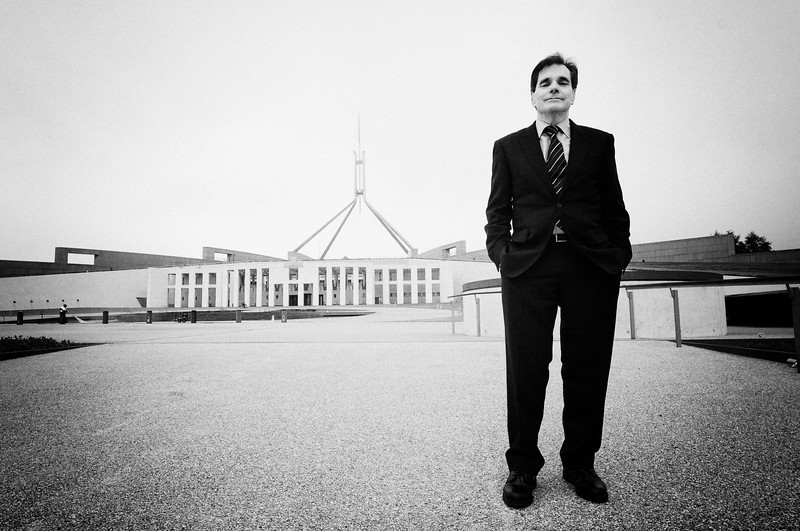 Day 1: Ron Williams at Parliament House, Canberra.