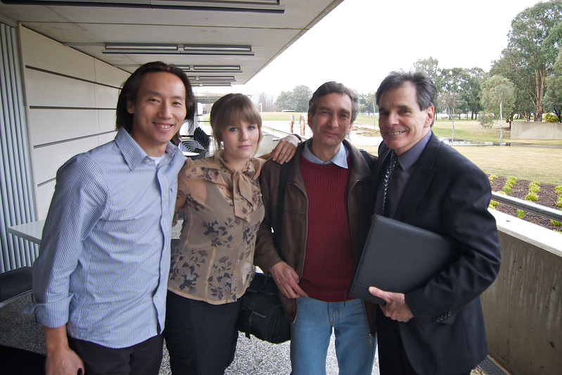 Helping to document Ron's High Court Challenge (L-R): Myself, Nina Pace, Frank Pace, Ron Williams.