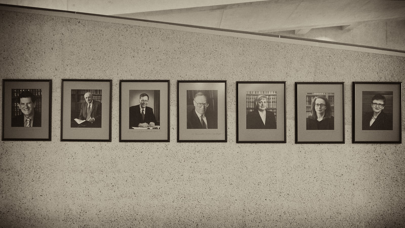 High Court Justices (L -R): Chief Justice French AC, Justice Gummow AC, Justice Hayne AC, Justice Heydon AC, Justice Crennan AC, Justice Kiefel AC, Justice Bell AC.