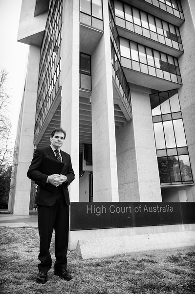 Day 1: Ron Williams at High Court of Australia, Canberra.