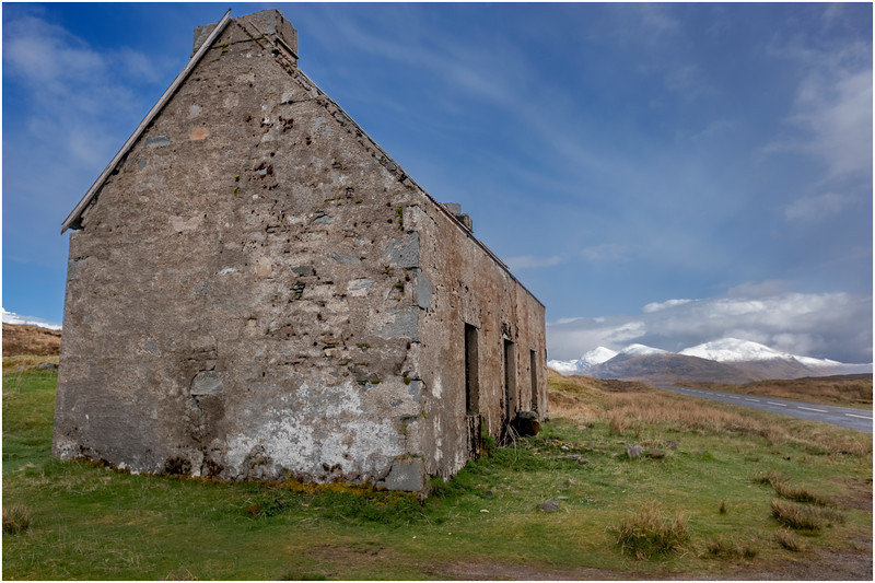 Scotland Wester Ross A896 Abandoned Cottage 2 May 2019