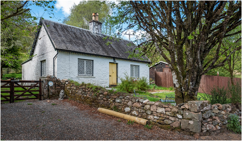 Scotland Highlands Three Bridges A819 Cottage 1 May 2019