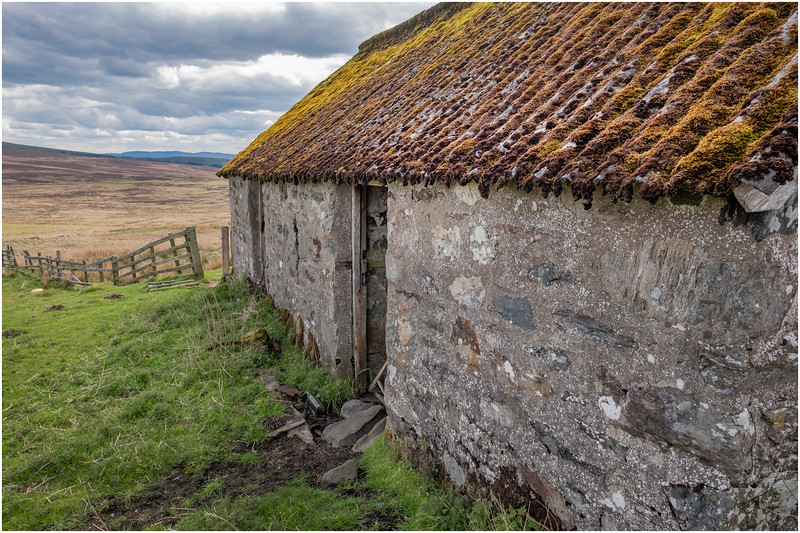 Scotland Cairngorm Cottage Ruins A924 north of Pitlochry 16 May 2019