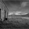 Scotland Wester Ross A896 Abandoned Cottage BW 3 May 2019
