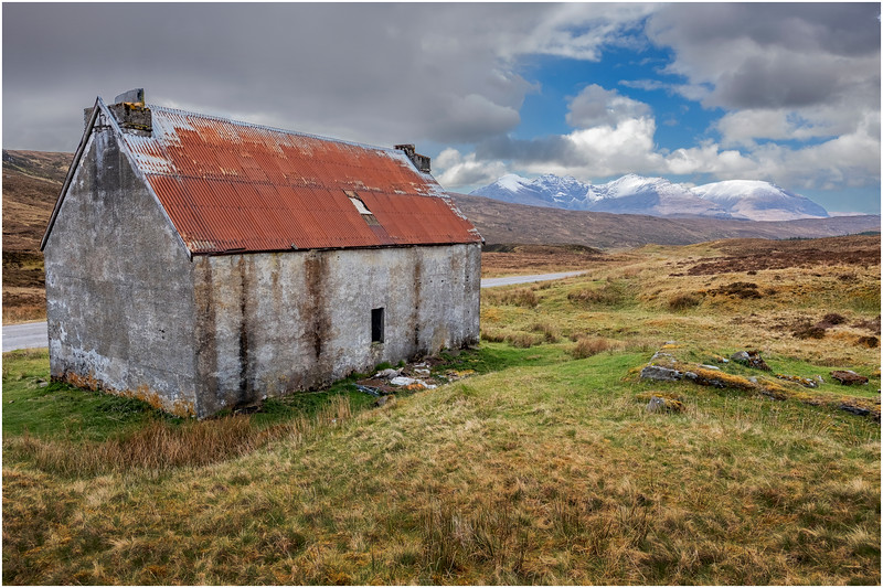 Scotland Wester Ross A896 Abandoned Cottage 1 May 2019