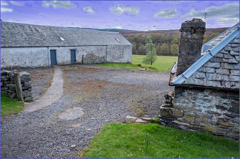 Scotland Cairngorm Farm near Trinafour 1 May 2019
