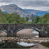 Scotland Bridge in River Fyne at head of Loch Fyne Achadunan 3 May 2019