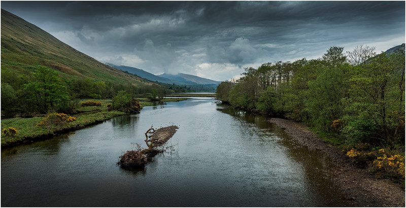 Scotland River Fyne at head of Loch Fyne 1 May 2019