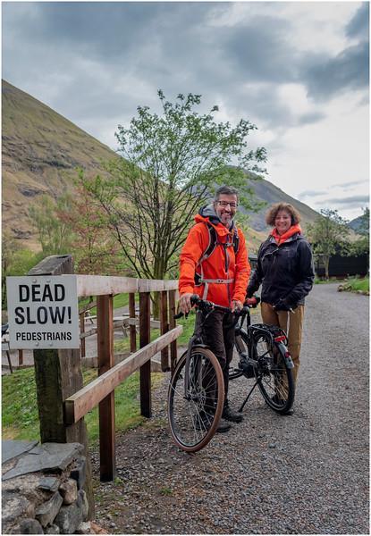 Scotland Glencoe Clachaig Inn 2 Cyclists May 2019