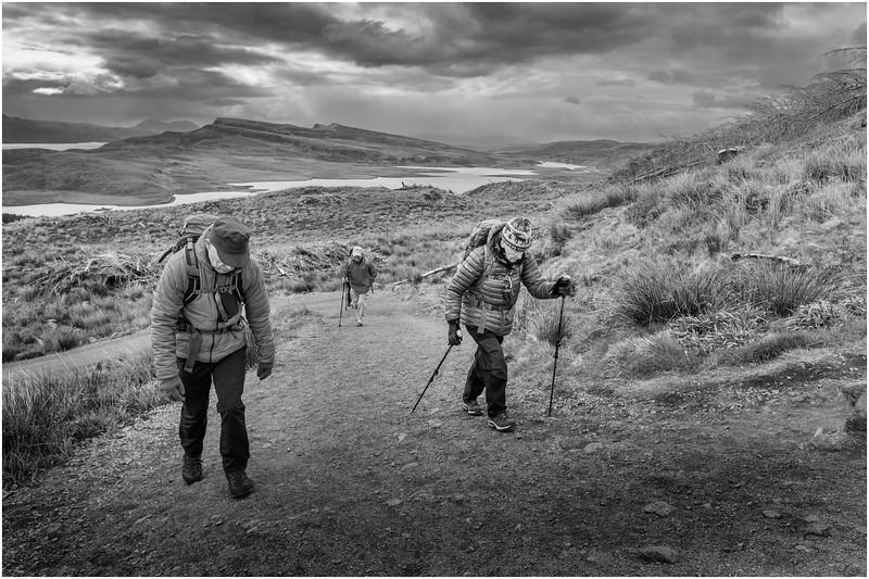 Scotland Isle of Skye The Storr Hikers BW 2 May 2019
