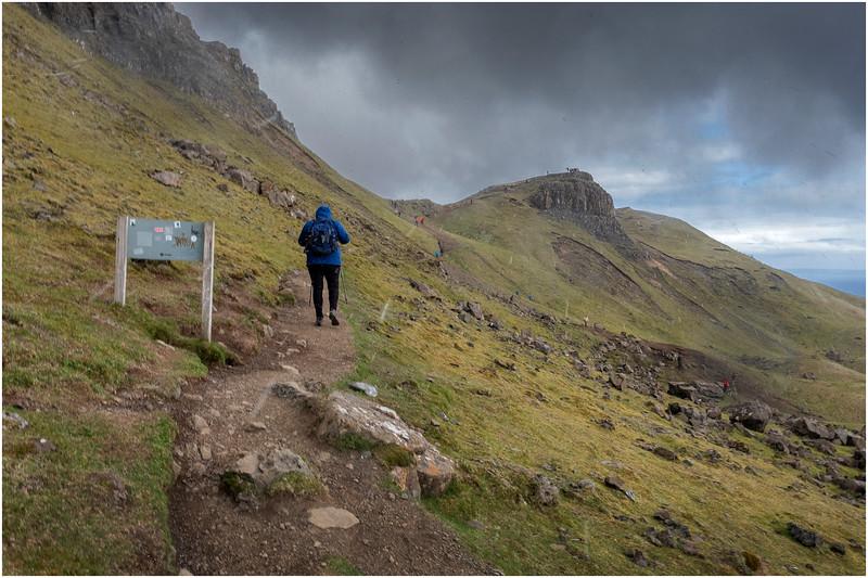Scotland Isle of Skye The Storr Hikers Sleet 8 May 2019