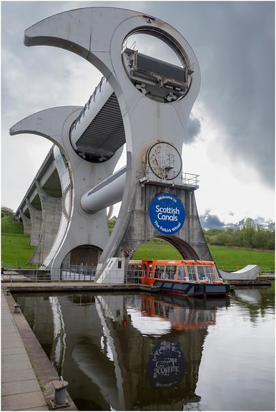 Scotland Falkirk Wheel 4 May 2019