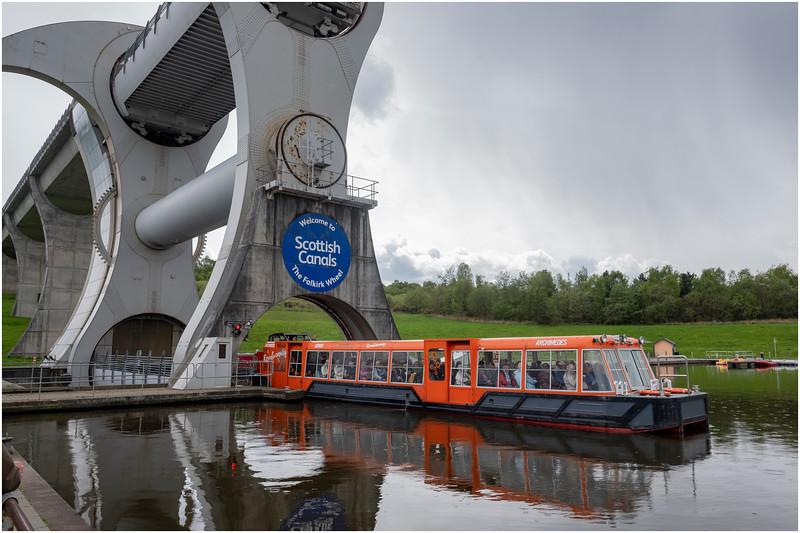 Scotland Falkirk Wheel 5 May 2019