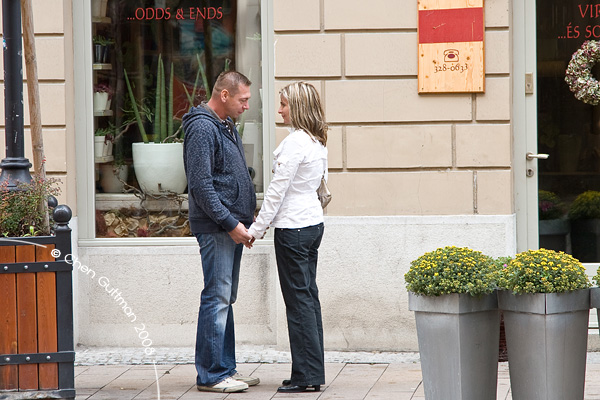 Couple at a deep loving flirt...