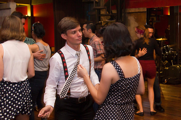 """Billy Blues"": Rockabilly and Blues Party at The Hop - Swing Dance Club, Silom, Bangkok."