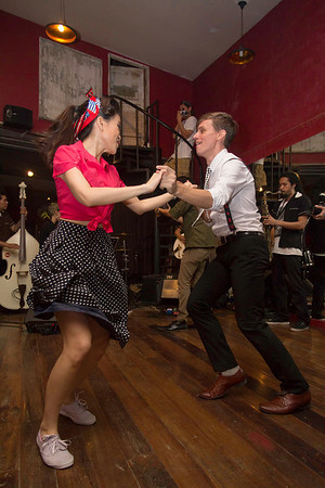 "Bangkok is home to a large expatriate community. ""Billy Blues"": Rockabilly and Blues Party at The Hop - Swing Dance Club, Silom, Bangkok."