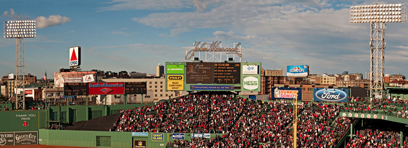 Fenway Park, Boston, MA 2010. (Two-part panorama)