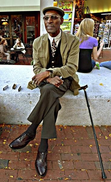 Blues Man, Harvard Square, Cambridge, MA 2008