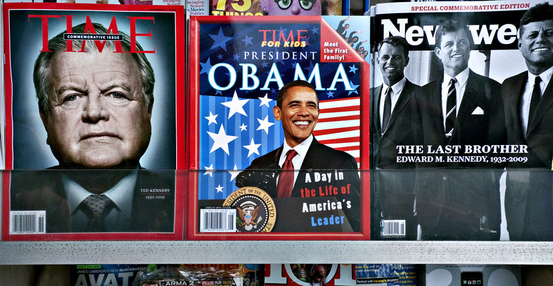 """The Last Brother,"" Magazine Stand, Harvard Square, Cambridge, MA 2009"