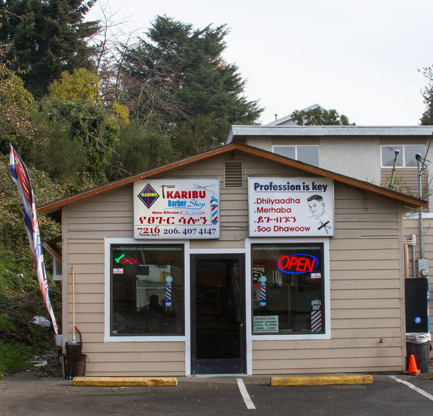 Location of Karibu Barber Shop - November 18, 2014