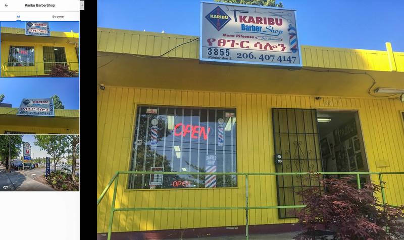 Current (2020) location of Karibu Barbershop