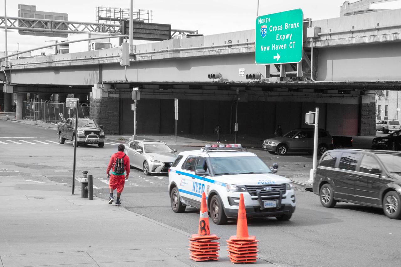 Crossing under the Cross Bronx