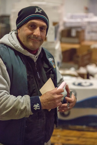 Salvatore Ruggiero - the frozen seafood sales manager of Joe Monani fish company - which has been in business since 1925