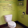 This was the decor of the bathroom in Vermont's Saint Michael's College's Women & Gender Center several years ago. I love the sayings on the wall... good inspiration for contemplation! So glad I took this shot as the walls have since been painted over.