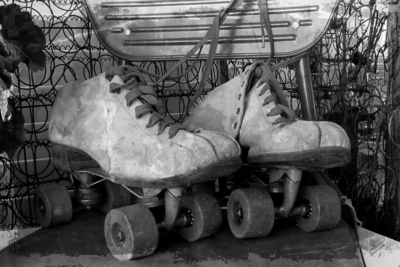 Remember roller skates like these?  Found at the Urban Barn (Escondido)