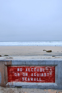 Mission Beach, San Diego.   Unusual sign!