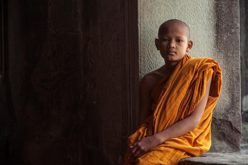 Cambodian Monk at Angkor Wat