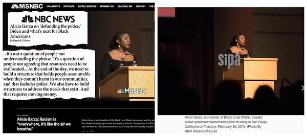 Alicia Garza of Black Lives Matter.