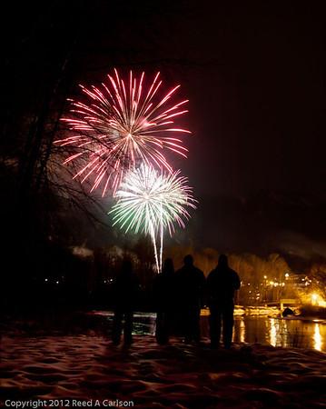 Fireworks at Winterfest 2012