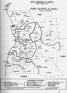 Mapa - Reinos Historicos de Angola