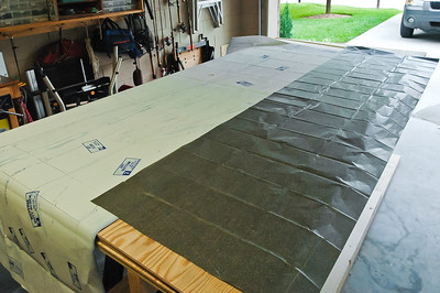 The project started with one really big piece of tracing paper and a full size set of plans.