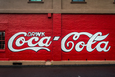 GA, Cartersville - Coca-Cola Wall Sign  02