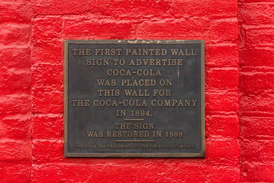 GA, Cartersville - First Coke Sign Plaque