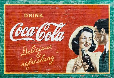 GA, Acworth - Coca-Cola Wall Sign 04