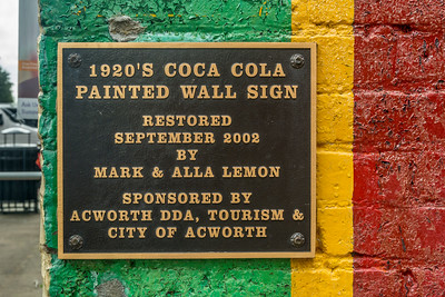GA, Acworth - Coke Sign Plaque