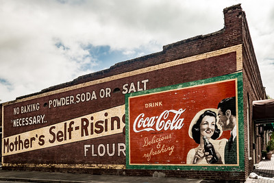 GA, Acworth - Coca-Cola Wall Sign