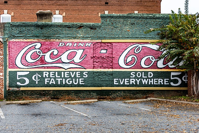 GA, Newnan - Coca-Cola Wall Sign 02