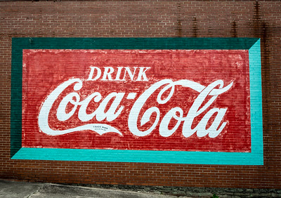 GA, Villa Rica - Coca Cola Wall Sign 02